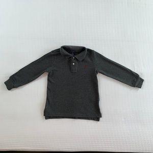 Polo Ralph Lauren Grey Long-Sleeve Polo 3T